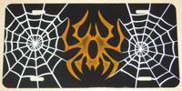 Orange Spider Custom Airbrushed License Plate