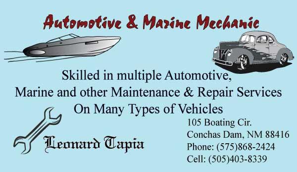 Marine Business Cards Marine Mechanic Business